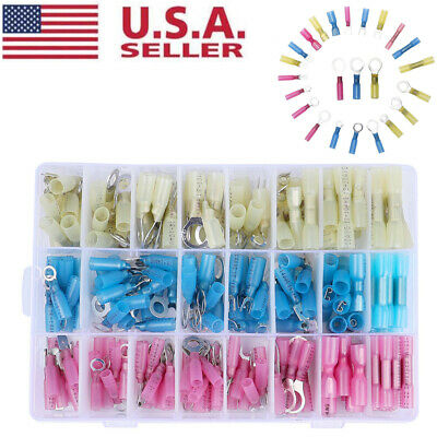 250X Heat Shrink Wire Connector DIY Kit Insulated Electrical Terminal Waterproof