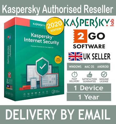 Kaspersky Internet Security 2020 1 Device 12 Months License Code Email Delivery