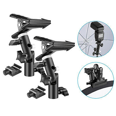 Neewer 2 Packs Photo Studio Heavy Duty Metal Clamp Holder and Cold Shoe Adapter