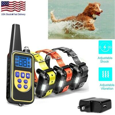 Electric Dog Shock Training Collar w/ Remote Waterproof for Large 875 Yards Pet