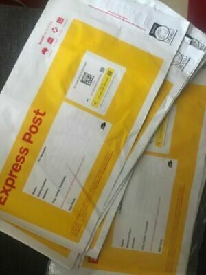 10x Genuine Australia Post 500g Express Post Satchel __ GST Inv Can Be Issued __