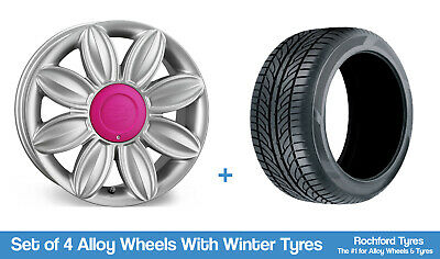 """Tansy Winter Alloy Wheels & Snow Tyres 16"""" For Daewoo Gentra 03-11"""