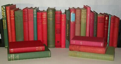 29x Red And Green Coloured Books - Perfect For Christmas Window Display- HB