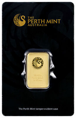 Perth Mint 10 Gram .9999 Gold Bar New Sealed With Assay Certificate SKU27177