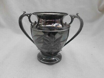 Old Pairpoint Mfg. Co Quadruple Plate Twin Handled Urn Shape Vase Pot Etched