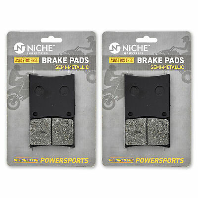 NICHE Brake Pad Set Suzuki Intruder 800 Boulevard Front Semi-Metallic 2 Pack