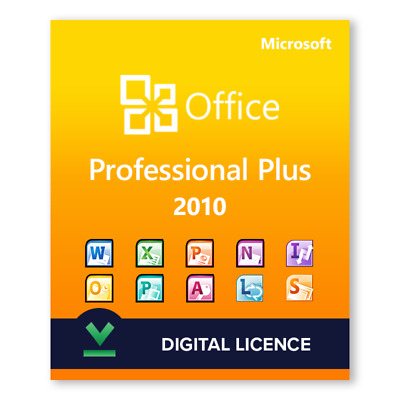 Office 2010 Professional Plus 32/64bit Key For License, Full Version