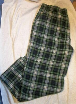 """L.L.BEAN"" Scotch Plaid, Portuguese Flannel Sleep Pants Men Sz XL"