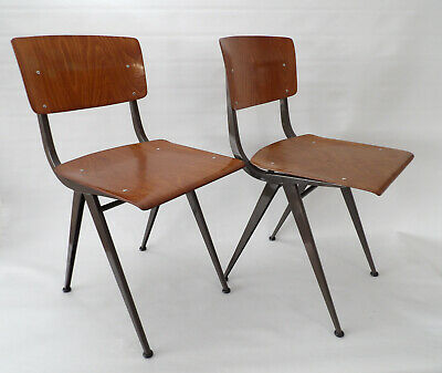 Industrial Dutch Chairs attr. Friso Kramer Style Prouvé