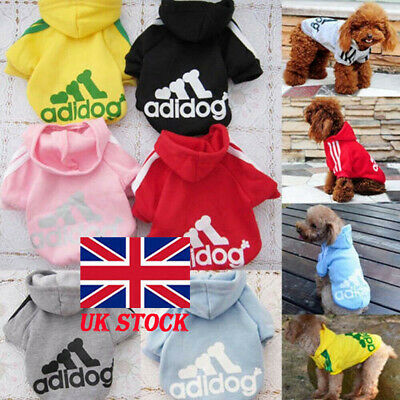 Winter Casual Adidog Pets Dog Clothes Warm Hoodie Coat Jacket Clothing For Dog