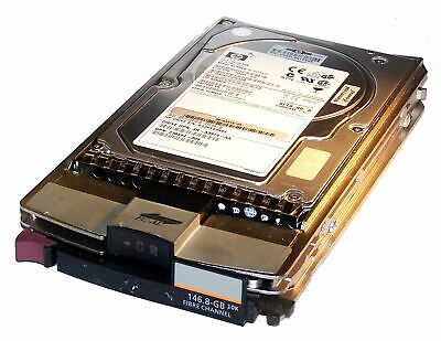 LOT OF 5 HP 146.8GB HARD DRIVE 10K RPM FIBRE CHANNEL 40 PIN 2 GBIT 344971-001