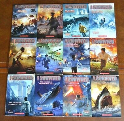 Set of 12 I Survived Series by Lauren Tarshis Epic Disasters AR list history L2