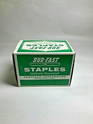 """Vintage Box with Duo-Fast Staples - 9/16""""  No. 7518-C"""