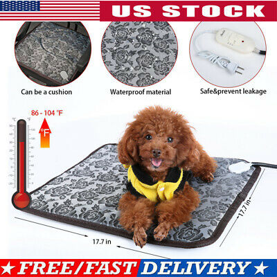 Pet Heated Warm Pad Puppy Dog Cats Large Electric Waterproof Bed Mat Heater Mats