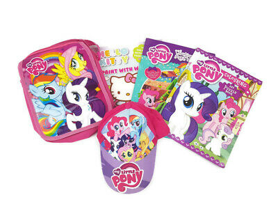 MY LITTLE PONY Small Satchel Bag + MLP Cap Hat + Paint with Water / Colour Books