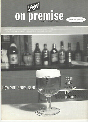Vintage 1962 Schlitz Beer 'How To Serve Beer' Publication For Bartenders! Guide!