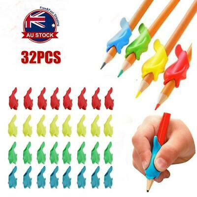 32Pcs/Set Children Pencil Holder Pen Writing Aid Grip Posture Tools Correction L