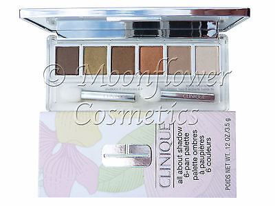CLINIQUE All About Shadow 6 Eyeshadow Palette ☆ AROMATICS IN WHITE ☆ BOXED NEW
