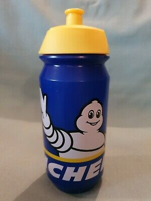 Michelin Plastic Branded Michelin Man Water Drinks Bottle Blue Yellow GC