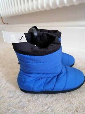 BNWT Boys Trendy Next Slipper Boots Size 9 infant