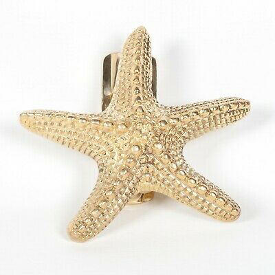 Stunning Polished Brass Starfish Shaped Door Knocker