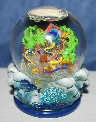 "CEDAR POINT AMUSEMENT PARK WATER/SNOW GLOBE 3 1/4"" tall"