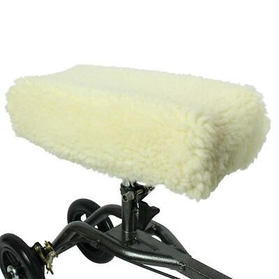 Knee Roller Walker Pad Cover - Plush Synthetic Faux Sheepskin Scooter Cushion