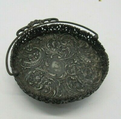 Antique Meriden Quadruple Silverplate #33 Four Legged Basket Bridal