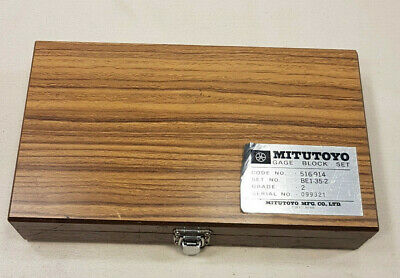 MITUTOYO GAGE BLOCK SET No. 516-914 / Grade 2 In Very Good Condition