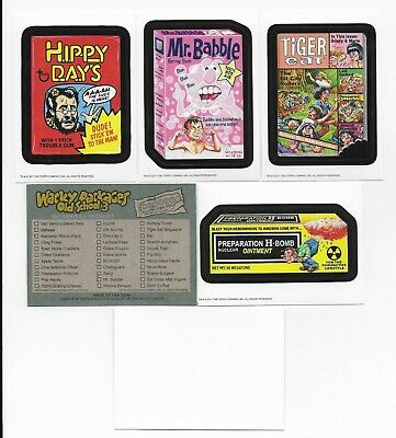 WACKY PACKAGES Old School Series 3 White back Set 33 Stickers  9 Checklist Cards