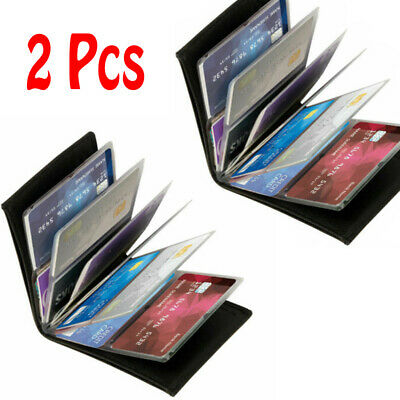 2Pcs Wonder Wallet Amazing Slim  Leather Wallet RFID Protection As Seen on TV