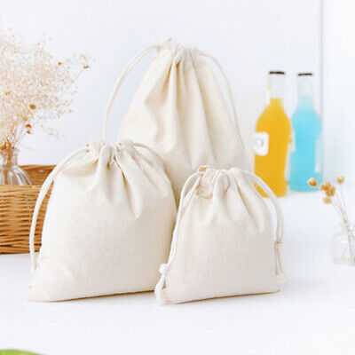Travel Cotton Linen Storage Package Bags Drawstring Bag Cloth Shoe Pouch 3 Sizes