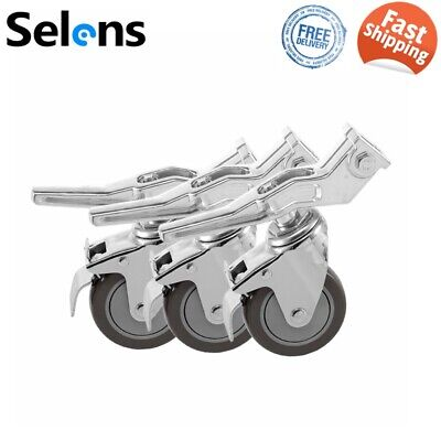 Selens 3PCS Studio Video Pro Swivel Caster Wheel Set for Heavy Duty Light Stand