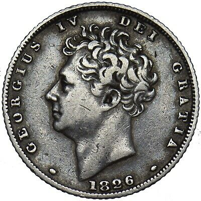 1826 Sixpence - George Iv British Silver Coin - Nice
