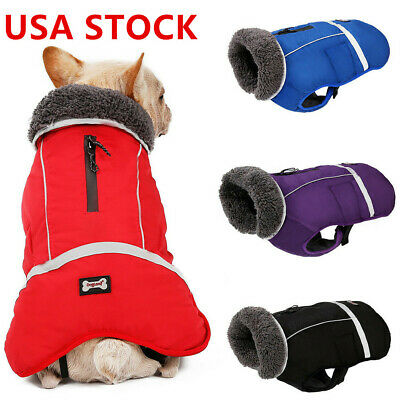 Winter Waterproof Outdoor Dog Jacket Warm Coat Small Medium Large Pet Clothes US