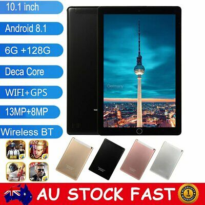 """10.1"""" Android 8.0 Deca Core Tablet PC 6+128GB Dual Camera Support WiFi GPS SIM"""
