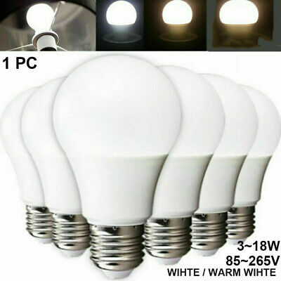 5W/7W/9W/12W Energy Saving LED Globe Light Bulb Lamp E27 White Rechargeable
