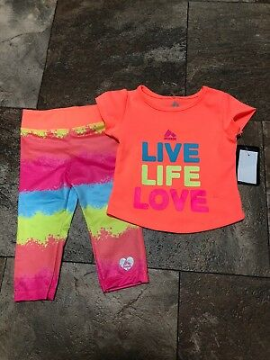 RBX~Toddler Girl 2 T Outfit Set~2 Pieces Orange NEW