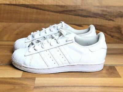 ADIDAS SUPERSTAR J WHITE ROSE GOLD ATHLETIC RUNNING SHOES 5Y