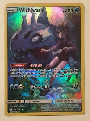 Pokemon Cosmic Eclipse Wishiwashi 240/236 Full Art Secret Rare Ships Now