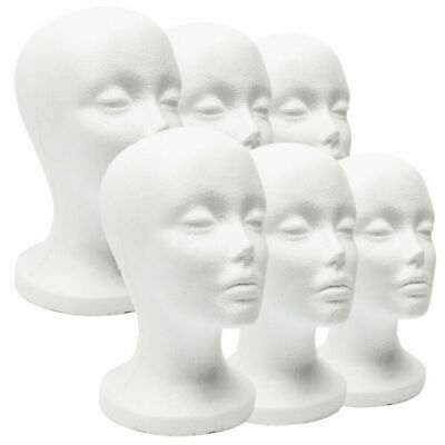 Female Foam Mannequin Head Model Hat Wig Jewelry Temporary Shop Display Stand AU