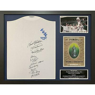 Leeds United Autographed 1972 Framed Fa Cup Final Shirt Signed By 10 Players