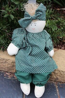 GIRL  -  Large Green Cloth Doll