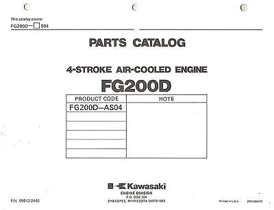 Kawasaki  Fg200D  Air Cooled  Engines  Parts  Manual Xxx
