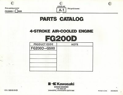Kawasaki  Fg200D  Air Cooled  Engines  Parts  Manual
