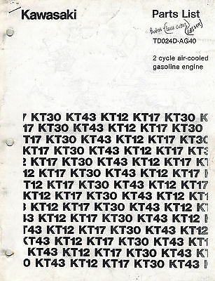 Kawasaki Tdo24D  Air Cooled  Engines  Parts  Manual