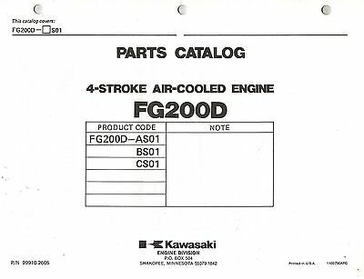 Kawasaki  Fg200D  Air Cooled  Engines  Parts  Manual Xx