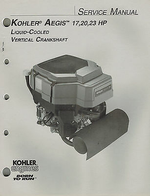 "Kohler Aegis 17 20 23  Hp Liquid  Engine Service Manual ""New"""