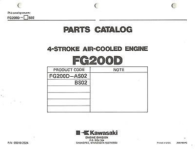 Kawasaki  Fg200D  Air Cooled  Engines  Parts  Manual X