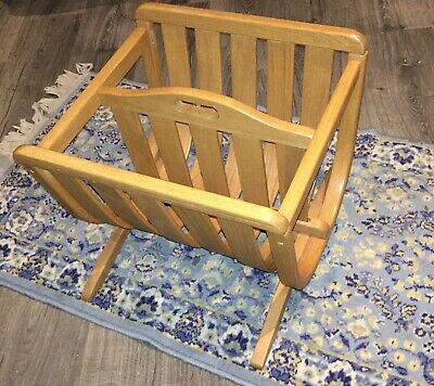 Mid Century Modern Bent Wood Magazine Rack Holder Fab!